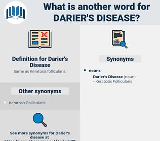 Darier's Disease, synonym Darier's Disease, another word for Darier's Disease, words like Darier's Disease, thesaurus Darier's Disease