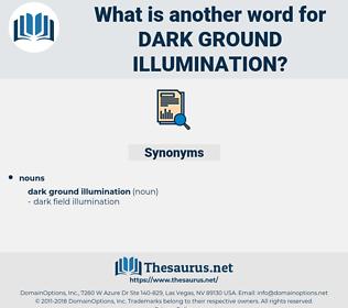 dark ground illumination, synonym dark ground illumination, another word for dark ground illumination, words like dark ground illumination, thesaurus dark ground illumination