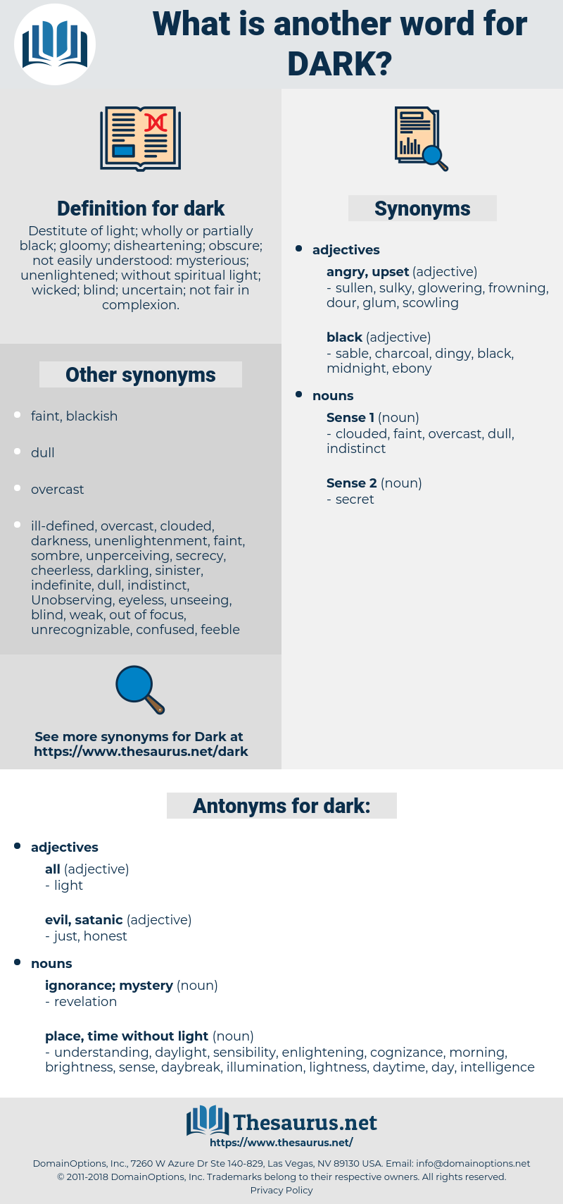 dark, synonym dark, another word for dark, words like dark, thesaurus dark