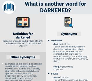 darkened, synonym darkened, another word for darkened, words like darkened, thesaurus darkened