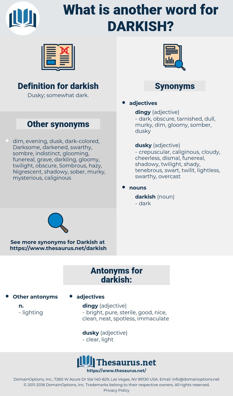 darkish, synonym darkish, another word for darkish, words like darkish, thesaurus darkish