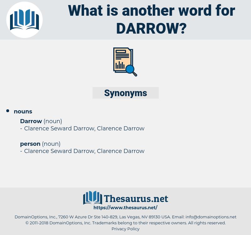 darrow, synonym darrow, another word for darrow, words like darrow, thesaurus darrow