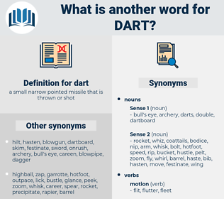 dart, synonym dart, another word for dart, words like dart, thesaurus dart