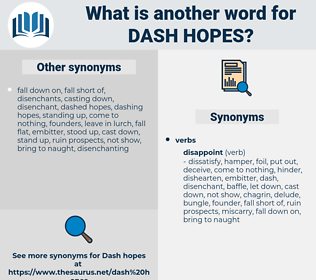 dash hopes, synonym dash hopes, another word for dash hopes, words like dash hopes, thesaurus dash hopes