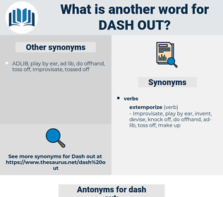 dash out, synonym dash out, another word for dash out, words like dash out, thesaurus dash out