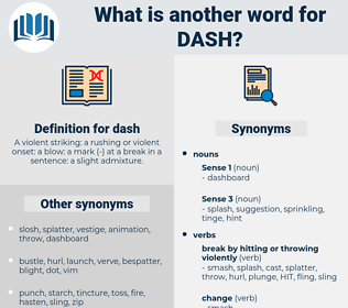 dash, synonym dash, another word for dash, words like dash, thesaurus dash