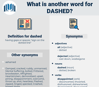 dashed, synonym dashed, another word for dashed, words like dashed, thesaurus dashed