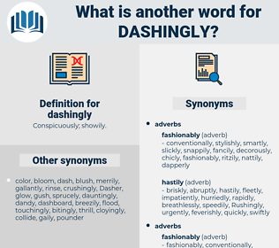 dashingly, synonym dashingly, another word for dashingly, words like dashingly, thesaurus dashingly