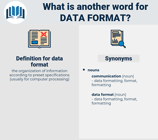 data format, synonym data format, another word for data format, words like data format, thesaurus data format