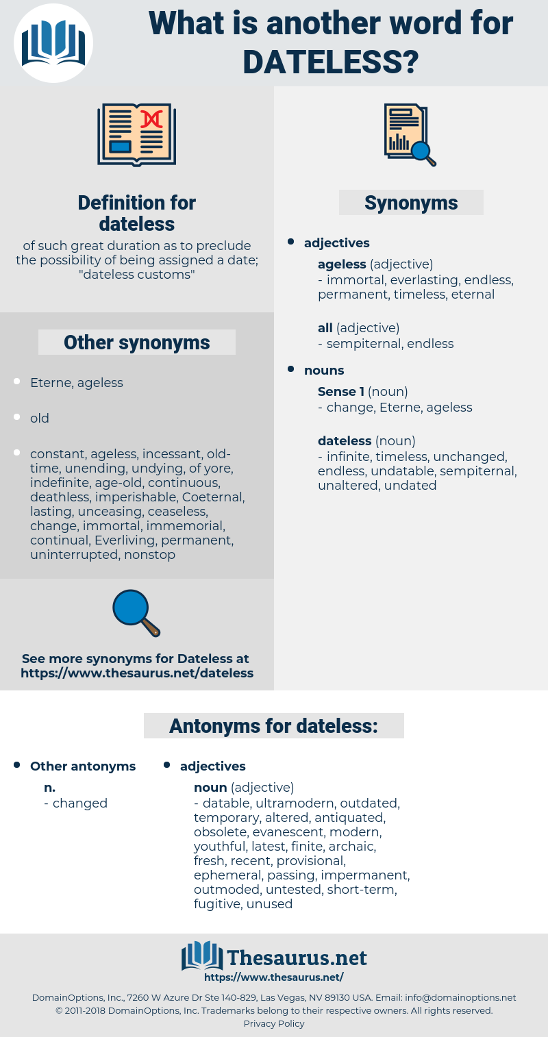 dateless, synonym dateless, another word for dateless, words like dateless, thesaurus dateless