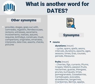 dates, synonym dates, another word for dates, words like dates, thesaurus dates