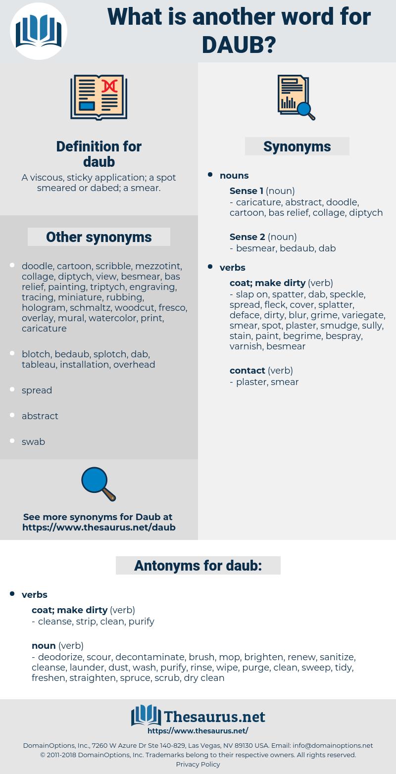 daub, synonym daub, another word for daub, words like daub, thesaurus daub