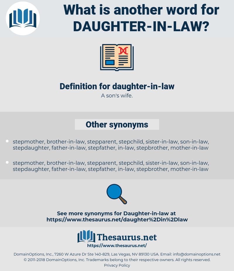 daughter-in-law, synonym daughter-in-law, another word for