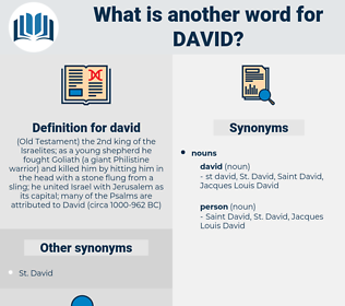 david, synonym david, another word for david, words like david, thesaurus david