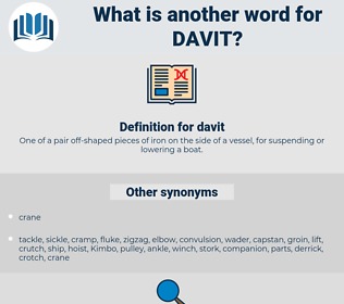 davit, synonym davit, another word for davit, words like davit, thesaurus davit