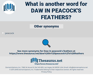 daw in peacock's feathers, synonym daw in peacock's feathers, another word for daw in peacock's feathers, words like daw in peacock's feathers, thesaurus daw in peacock's feathers