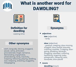 dawdling, synonym dawdling, another word for dawdling, words like dawdling, thesaurus dawdling