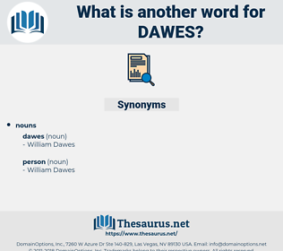 dawes, synonym dawes, another word for dawes, words like dawes, thesaurus dawes