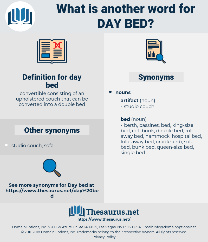day bed, synonym day bed, another word for day bed, words like day bed, thesaurus day bed