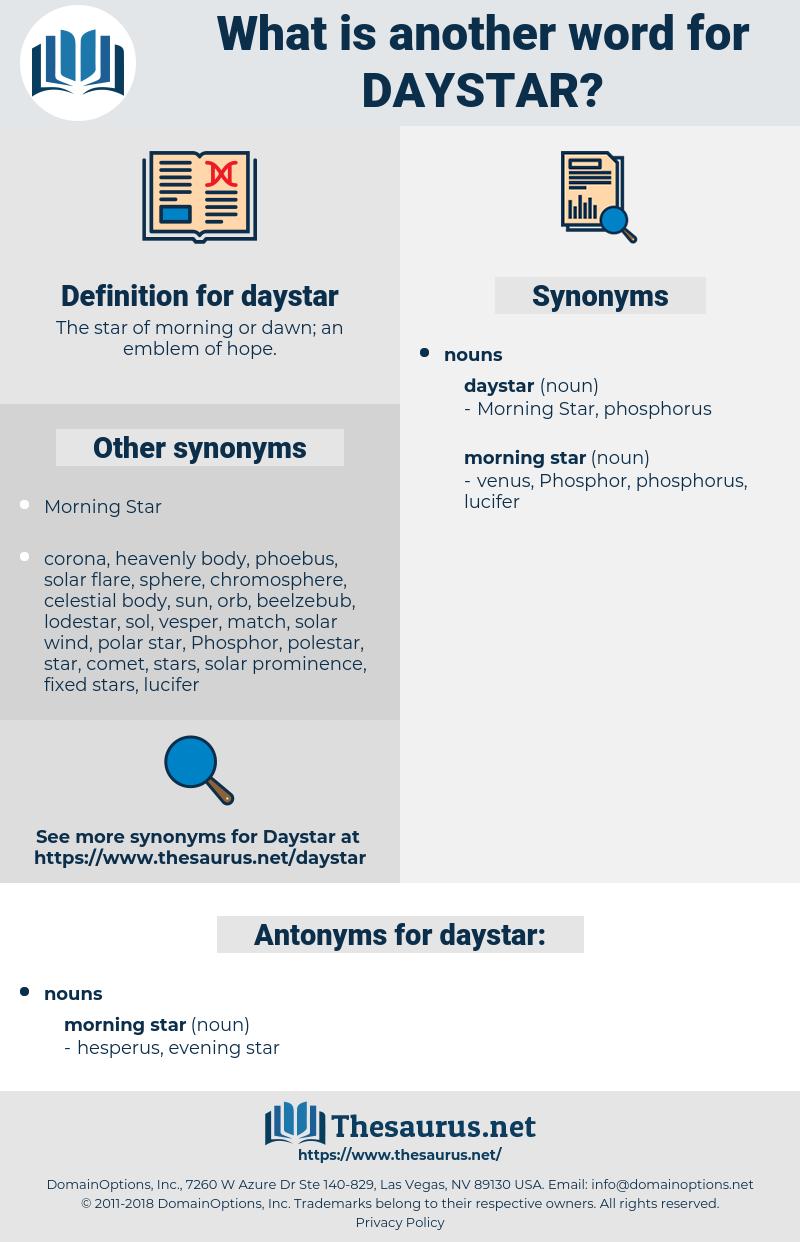 daystar, synonym daystar, another word for daystar, words like daystar, thesaurus daystar