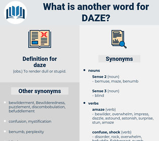 daze, synonym daze, another word for daze, words like daze, thesaurus daze
