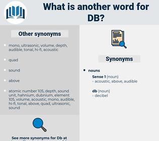 db, synonym db, another word for db, words like db, thesaurus db