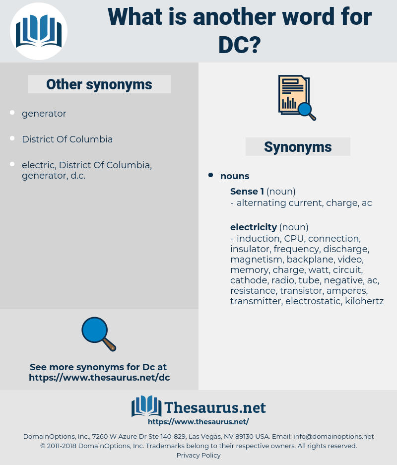 DC, synonym DC, another word for DC, words like DC, thesaurus DC