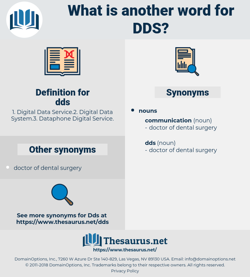 dds, synonym dds, another word for dds, words like dds, thesaurus dds