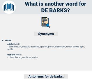 de-barks, synonym de-barks, another word for de-barks, words like de-barks, thesaurus de-barks