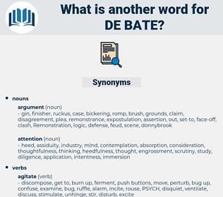 de bate, synonym de bate, another word for de bate, words like de bate, thesaurus de bate
