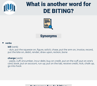 de-biting, synonym de-biting, another word for de-biting, words like de-biting, thesaurus de-biting