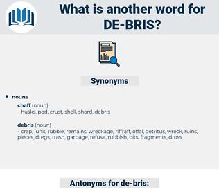de-bris, synonym de-bris, another word for de-bris, words like de-bris, thesaurus de-bris