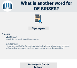de-brises, synonym de-brises, another word for de-brises, words like de-brises, thesaurus de-brises