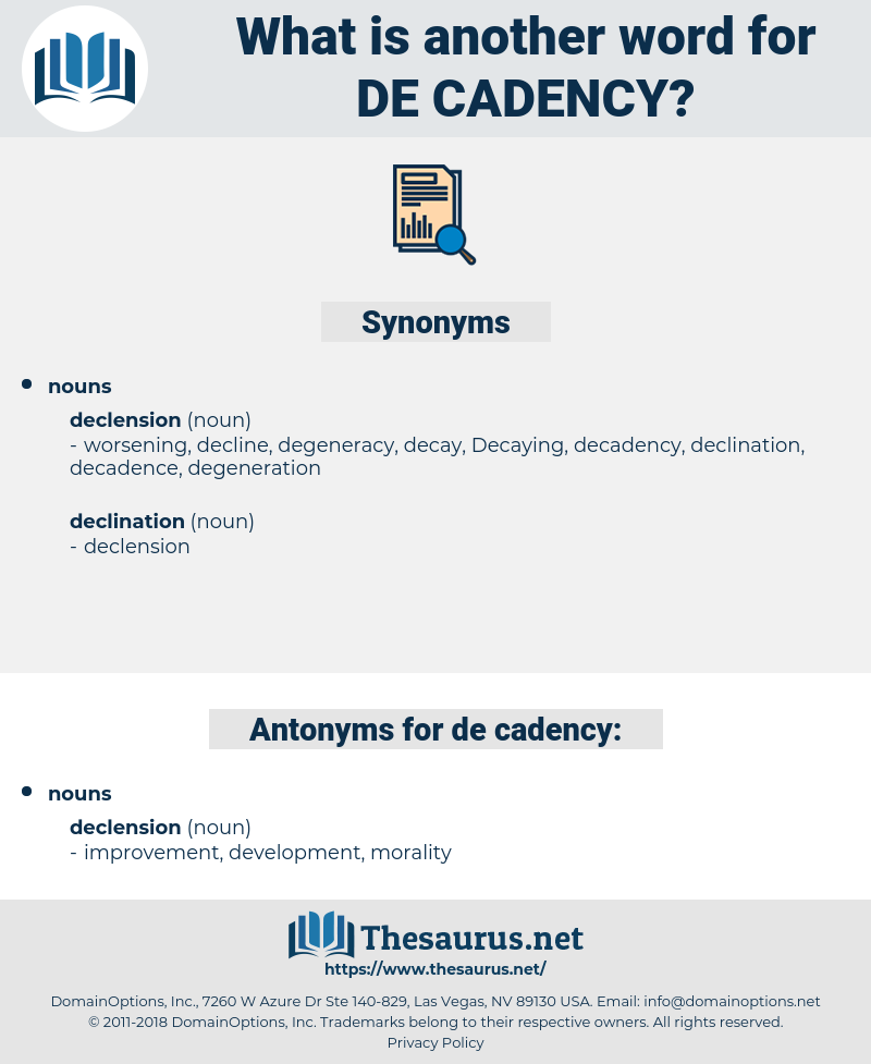 de cadency, synonym de cadency, another word for de cadency, words like de cadency, thesaurus de cadency