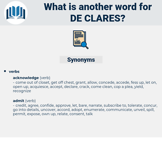 de clares, synonym de clares, another word for de clares, words like de clares, thesaurus de clares