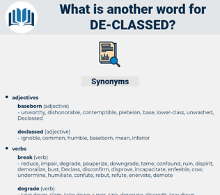 de classed, synonym de classed, another word for de classed, words like de classed, thesaurus de classed