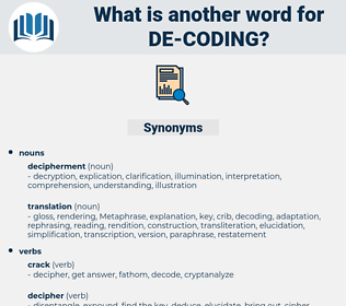 de coding, synonym de coding, another word for de coding, words like de coding, thesaurus de coding