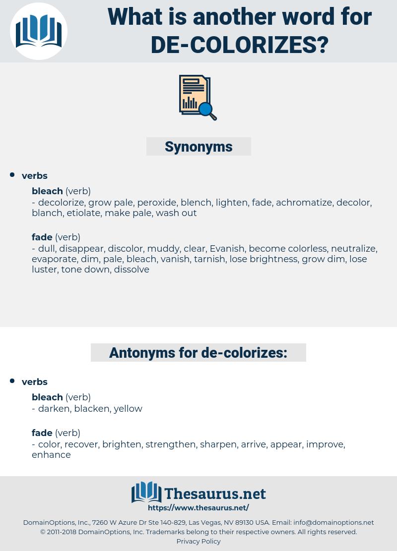 de colorizes, synonym de colorizes, another word for de colorizes, words like de colorizes, thesaurus de colorizes