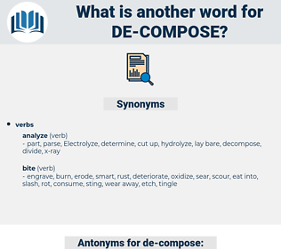 de compose, synonym de compose, another word for de compose, words like de compose, thesaurus de compose