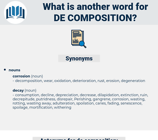 de-composition, synonym de-composition, another word for de-composition, words like de-composition, thesaurus de-composition