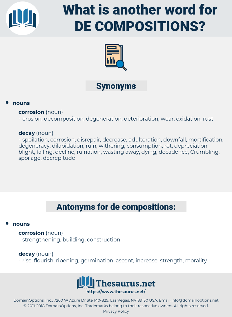 de-compositions, synonym de-compositions, another word for de-compositions, words like de-compositions, thesaurus de-compositions