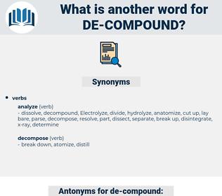 de compound, synonym de compound, another word for de compound, words like de compound, thesaurus de compound