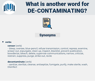 de contaminating, synonym de contaminating, another word for de contaminating, words like de contaminating, thesaurus de contaminating