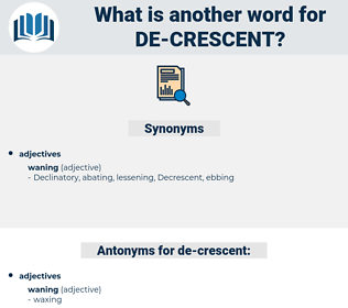 de crescent, synonym de crescent, another word for de crescent, words like de crescent, thesaurus de crescent
