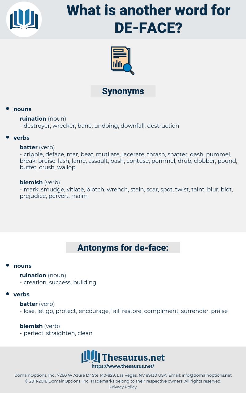 de-face, synonym de-face, another word for de-face, words like de-face, thesaurus de-face