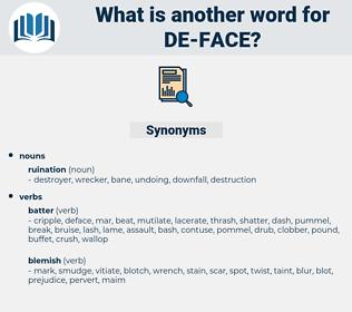 de face, synonym de face, another word for de face, words like de face, thesaurus de face