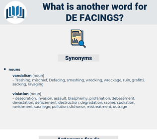de facings, synonym de facings, another word for de facings, words like de facings, thesaurus de facings