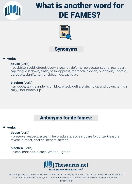 de fames, synonym de fames, another word for de fames, words like de fames, thesaurus de fames