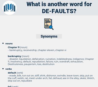 de-faults, synonym de-faults, another word for de-faults, words like de-faults, thesaurus de-faults