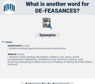 de feasances, synonym de feasances, another word for de feasances, words like de feasances, thesaurus de feasances